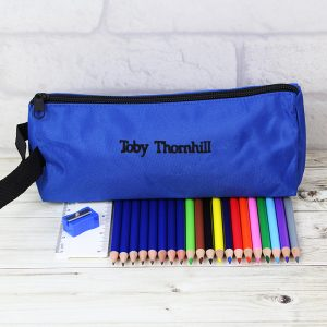Blue Pencil Case and None Personalised Content