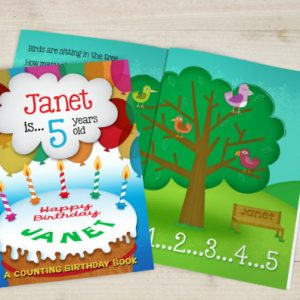 Personalised A Counting Birthday Book