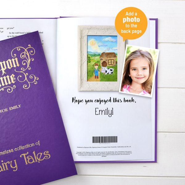 Fairytale book with photo