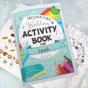 Personalised Activity Book for Kids at Wedding