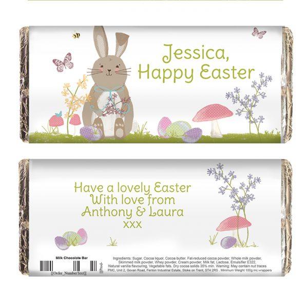 Personalised Chocolate Bar Easter
