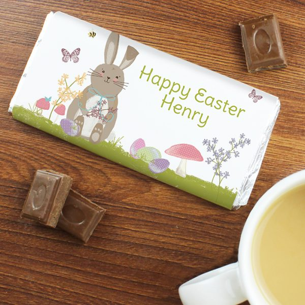 Personalised Chocolate Bar Easter Bunny