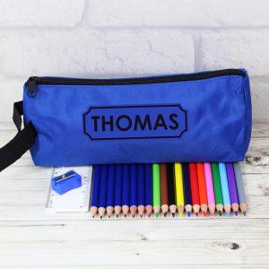 Blue Pencil Case & Non Personalised Content