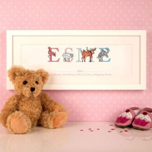 Personalised New Baby Gift - Framed Name Print