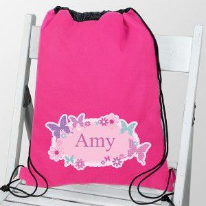 Personalised Kit Bag - Butterflies