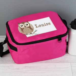Personalised Owl Lunch Bag