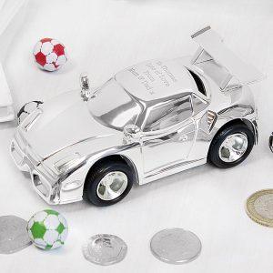 Personalised Racing Car Money Box