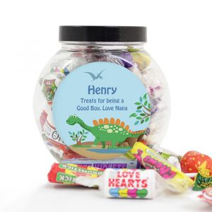 Personalised Dinosaur Sweet Jar