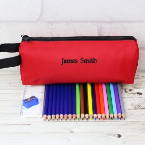 Red Pencil Case and None Personalised Contents