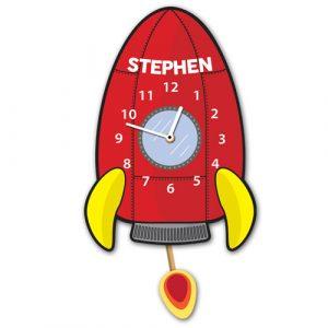Rocket Ship Personalised Wall Clock