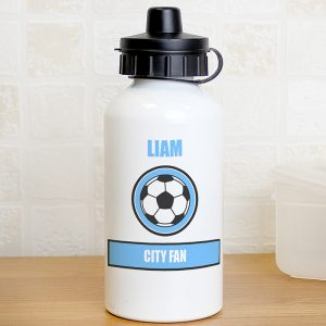Personalised Sky Blue Water Bottle