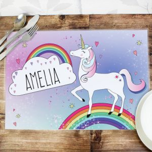 Unicorn Personalised Placemat