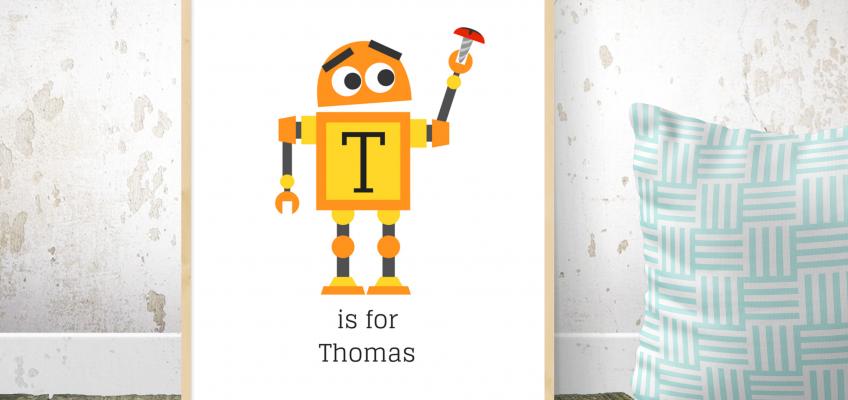 Personalised Robot Printable