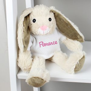 Personalised Name Only Bunny Rabbit - Pink