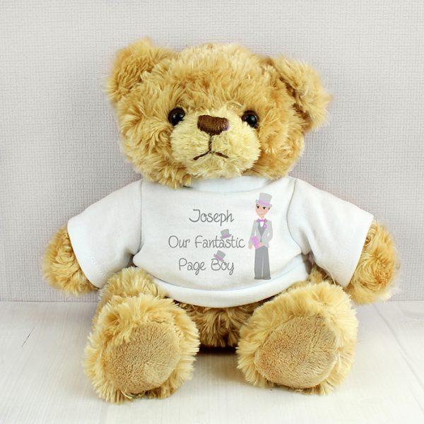 Page Boy Personalised Teddy Bear