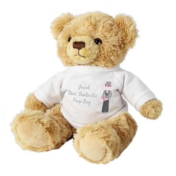 Page Boy Personalised Message Teddy Bear