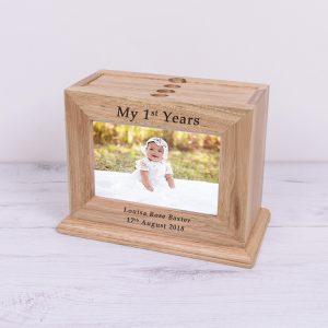 My 1st Years Wooden Photo Album