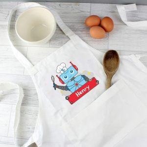 Personalised Children's Robot Apron