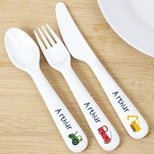 Personalised Vehicles Plastic Cutlery