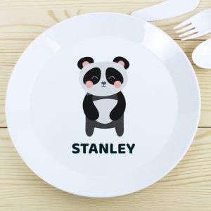 Personalised Panda Plastic Plate