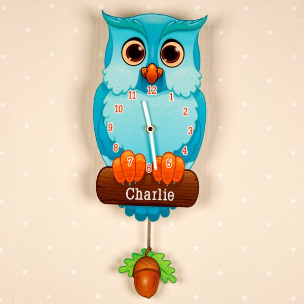 Children's Owl Wall Clock