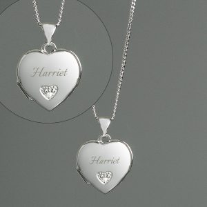 Personalised Girl's Heart Locket Necklace