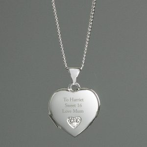 Personalised Girl's Heart Locket