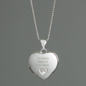 Personalised Girl's Heart Locket
