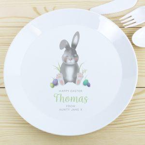 Personalised Bunny Plastic Plate