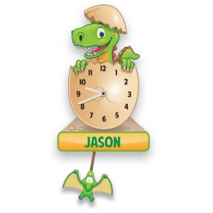 Personalised Dinosaur Wall Clock