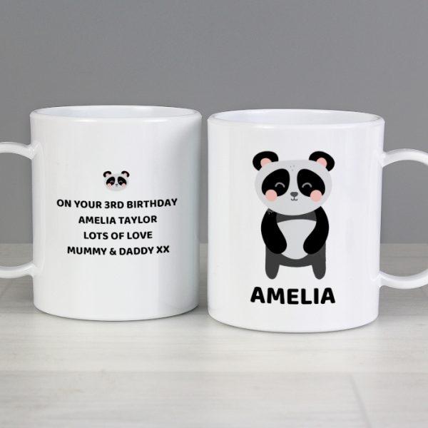 Panda Personalised Childrens Plastic Cup