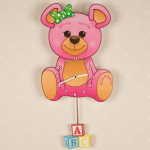 Personalised Teddy Bear Clock