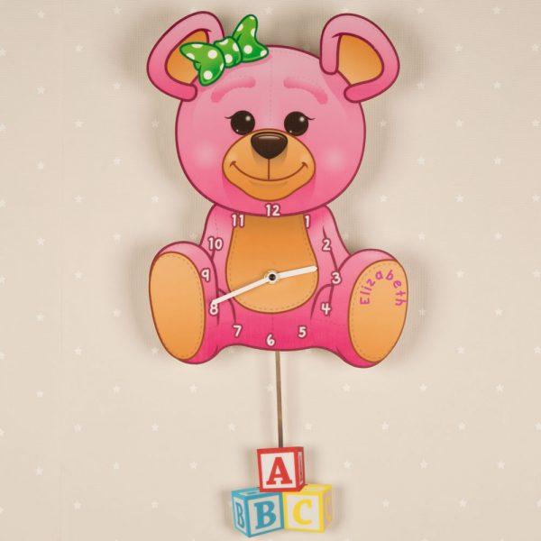 Personalised Teddy Bear Clock