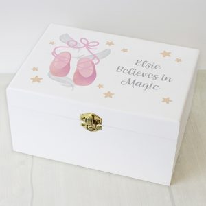 Personalised Ballet Shoes Keepsake Box