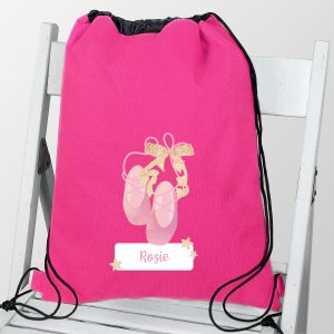 Personalised Ballet Shoes Kit Bag