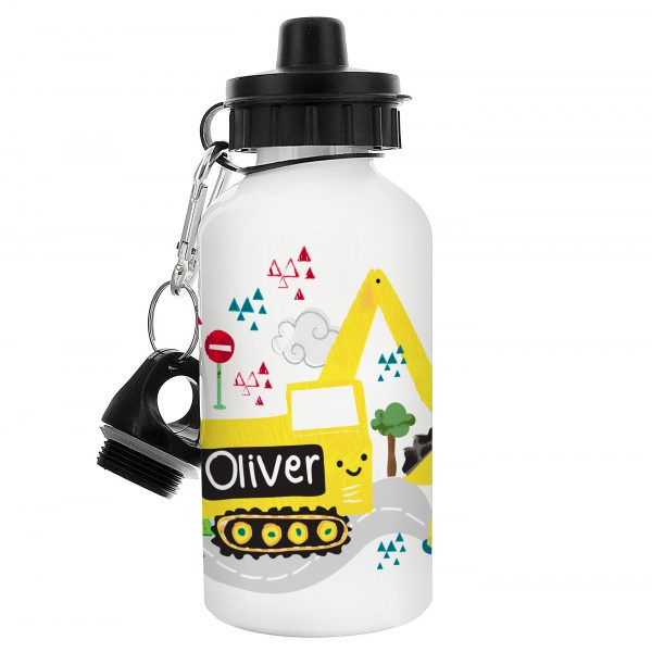 Digger Personalised Water Bottle