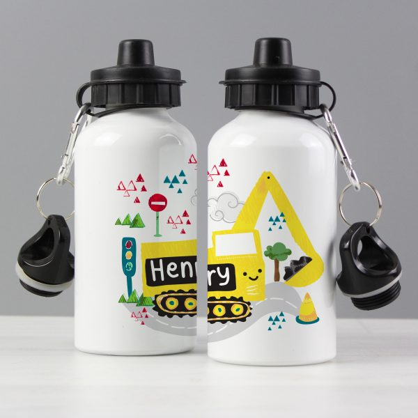 Personalised Digger Water Bottle