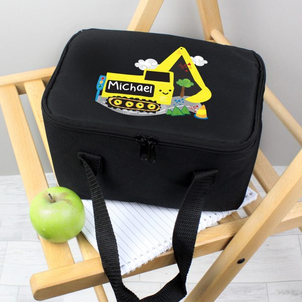 Personalised Digger Lunch Box