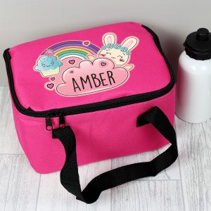 Cute Bunny Personalised Lunch Bag