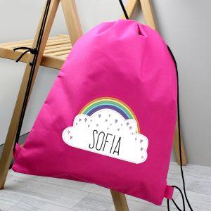Rainbow Girls Personalised PE Swimming Kit Bag