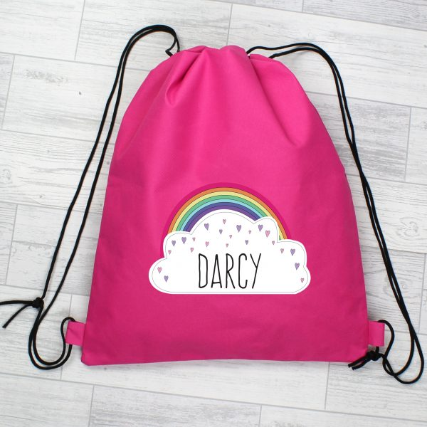 Girls Personalised PE Swimming Kit Bag