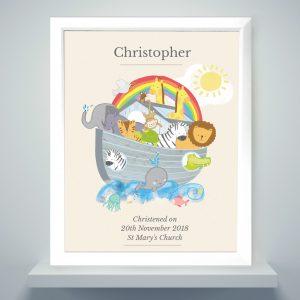 Personalised Noah's Ark Framed Print