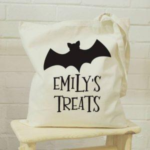 Personalised Bat Halloween Bag