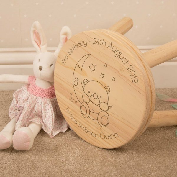 Baby Bear Personalised Wooden Stool