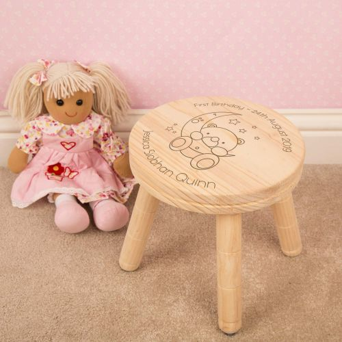 Personalised Baby Bear Wooden Stool