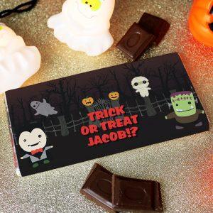 Personalised Halloween Chocolate Bar