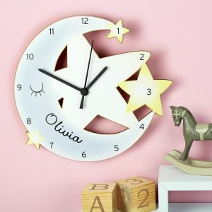 Personalised Moon & Stars Clock
