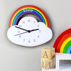 Personalised Rainbow Clock