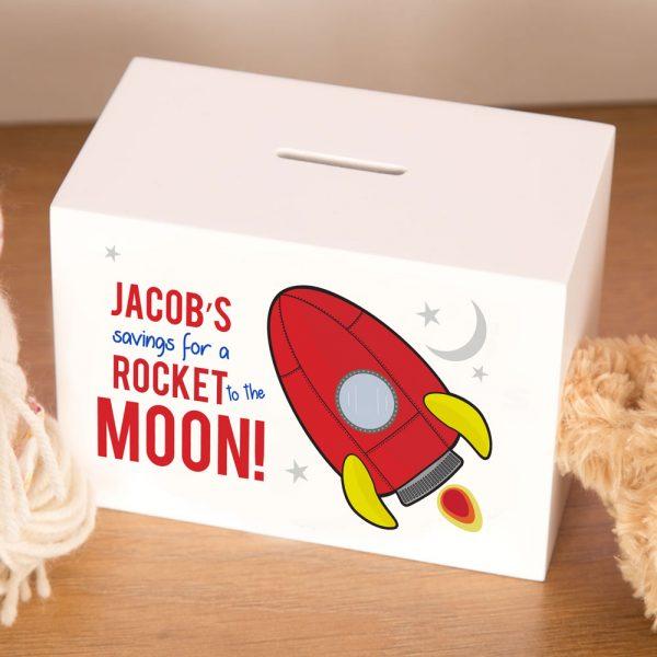 Personalised Space Rocket Moneybox