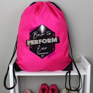 Personalised Born to Perform Dance Kit Bag